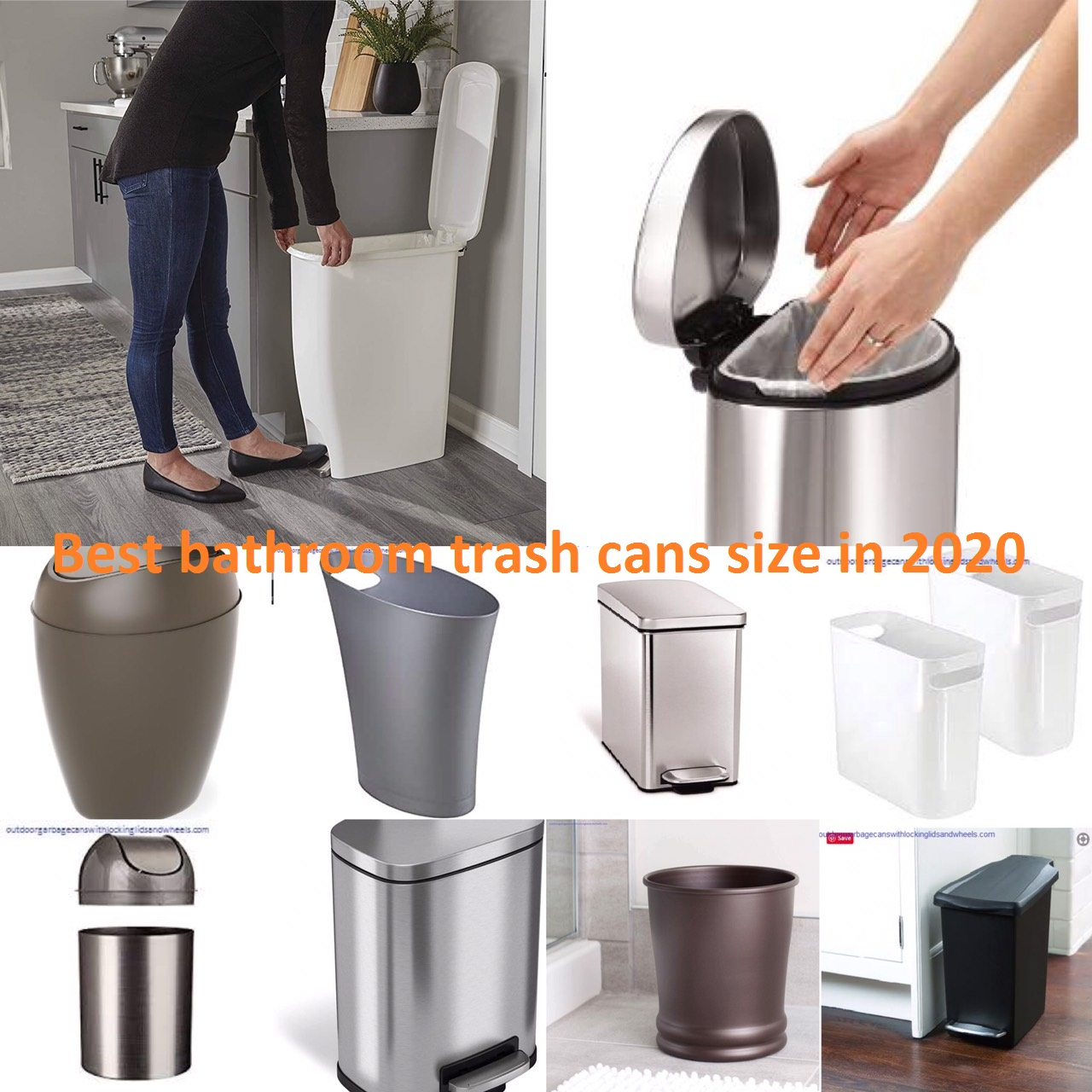 Top 10 Best Bathroom Trash Cans Size In 2020 Outdoor